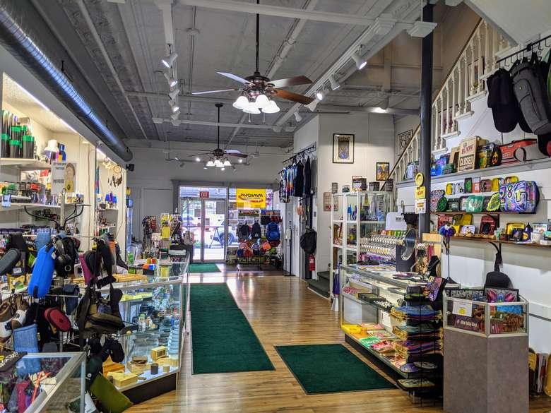 inside head shop