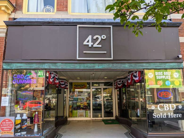 outside of 42 Degrees shop