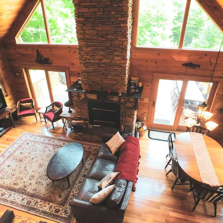 view of house living room from above
