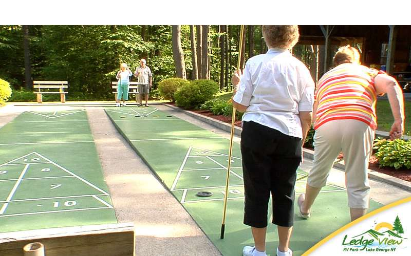 Shuffleboard is just one of the many on-site activities offered at the campground.