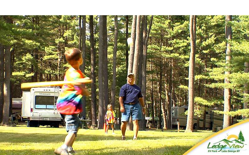 You'll find plenty of room for your kids to play around the campground.