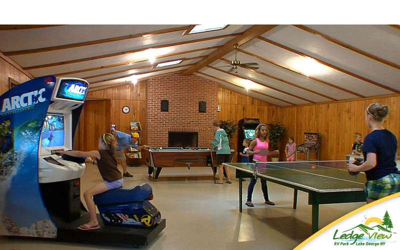 Don't forget about the rec room! There are all kinds of games waiting for you indoors.