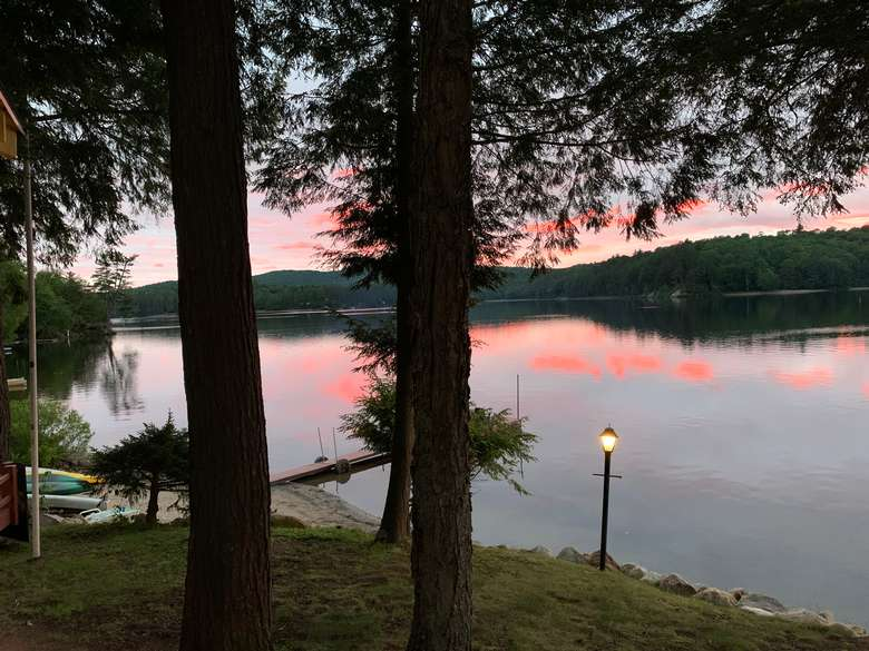 Sunset over Long Lake from Journey's End