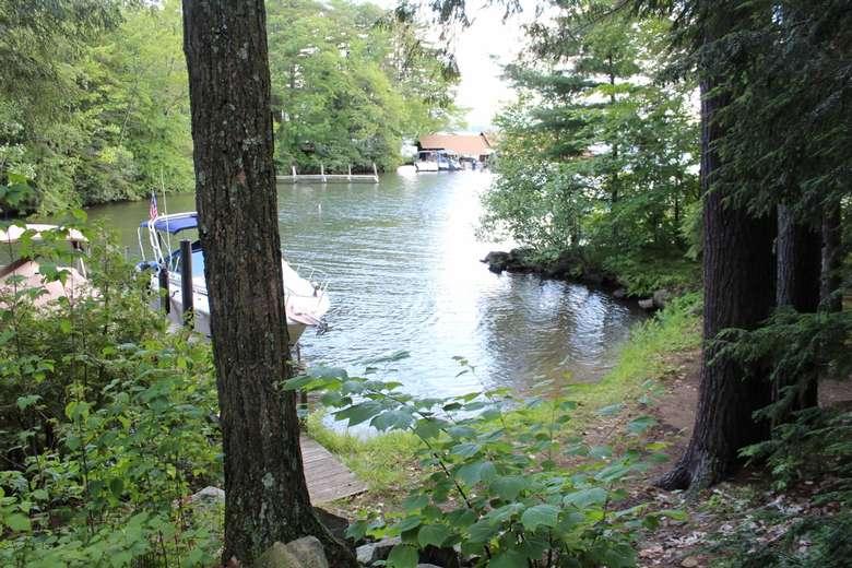 lake with marina
