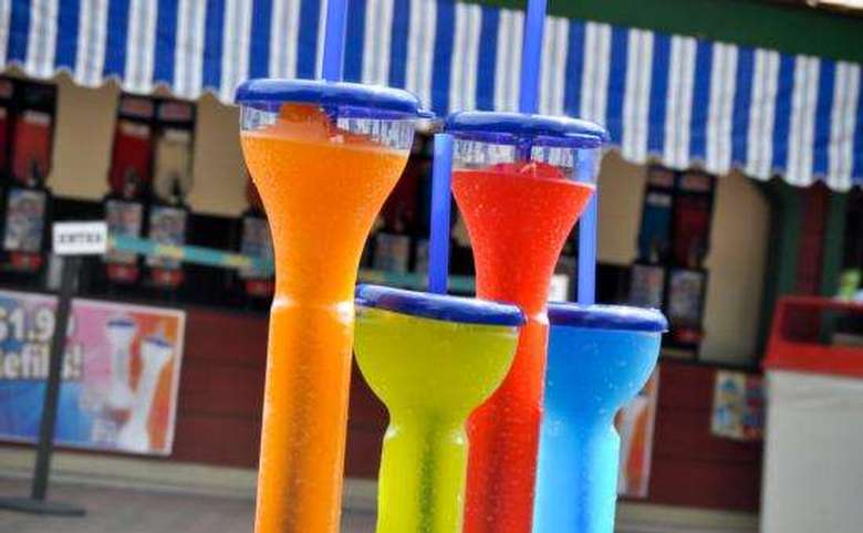 two large and two small frozen drinks