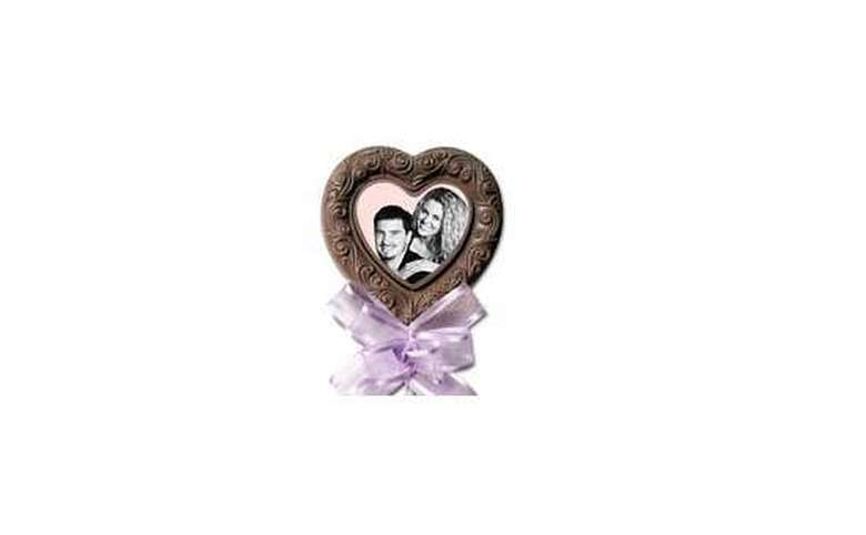 Image of couple in chocolate heart