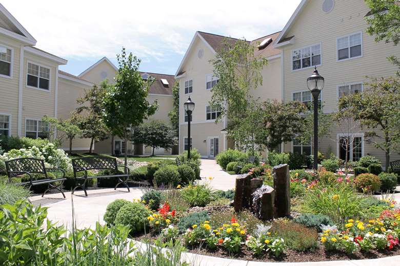 apartment complex with patio