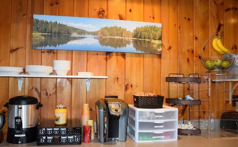 a breakfast station