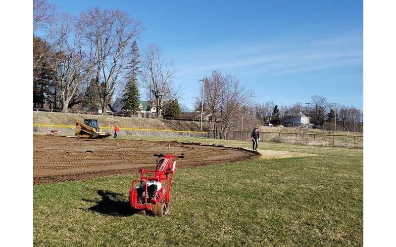 field under construction