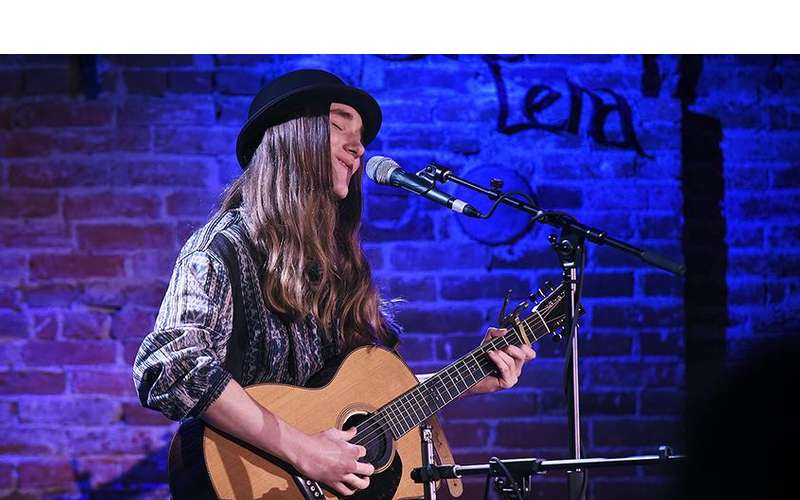 Photo of Sawyer Fredericks at Caffe Lena