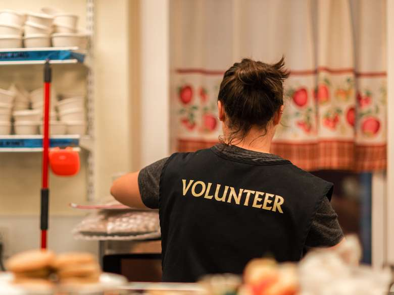 Our kitchen is run by volunteers each and every night