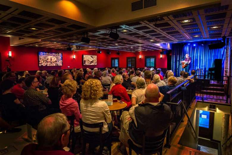A full house in our intimate listening room