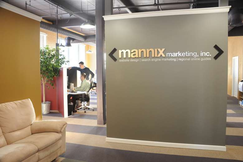 entrance wall at mannix marketing