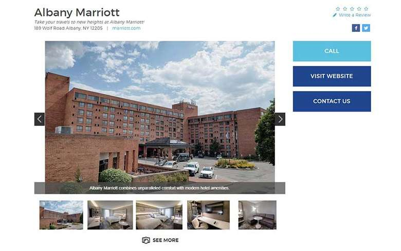 albany marriott business listing