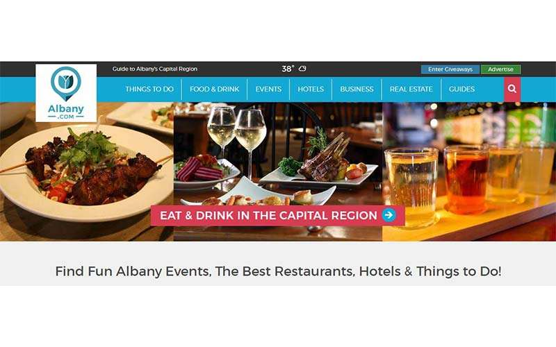 albany.com home page