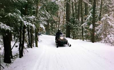 Lake Vanare Snowmobile Tours
