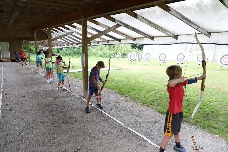 Try your aim at archery - make it a family competition.
