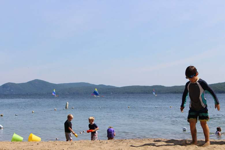 Enjoy one of the two beaches as Silver Bay.