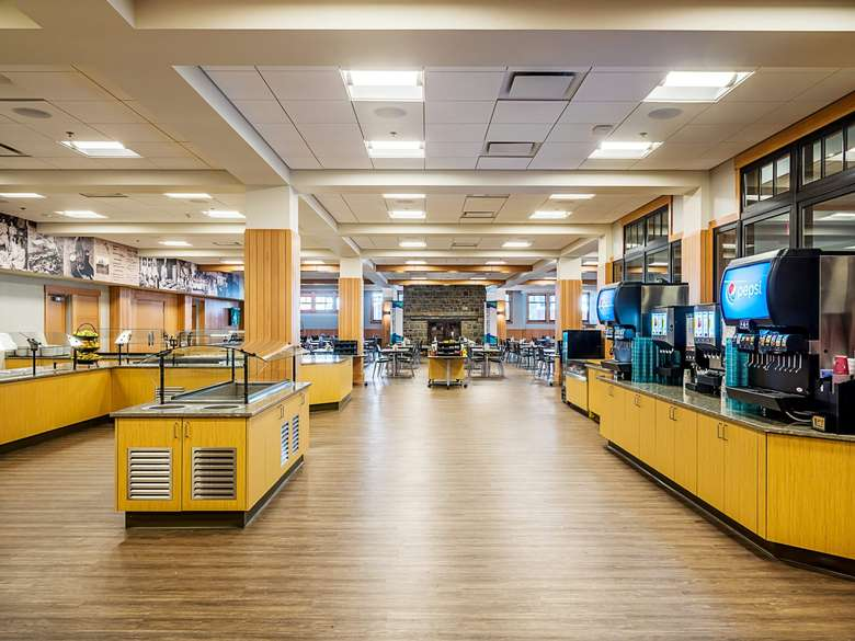 The dining hall is located inside the brand new William Boyd Center
