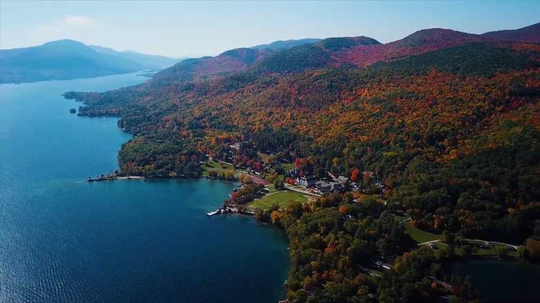 Silver Bay sits on 700 acres and a mile of Lake George shoreline.
