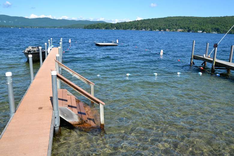 dock going into the water