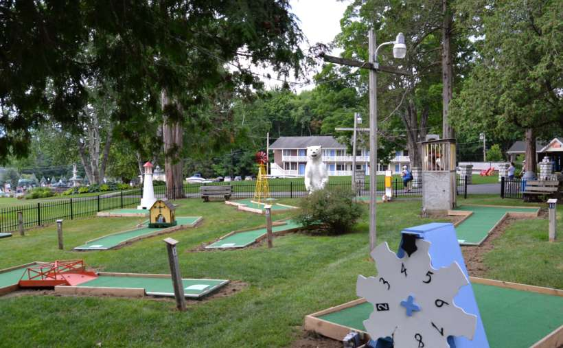 a mini-golf course