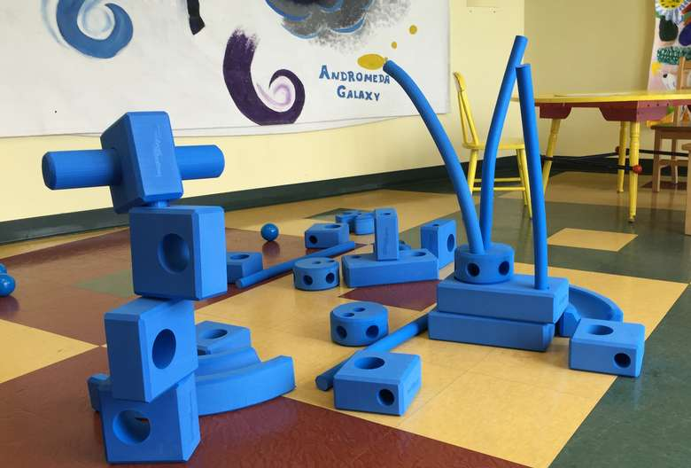 Structure of blue shaped blocks