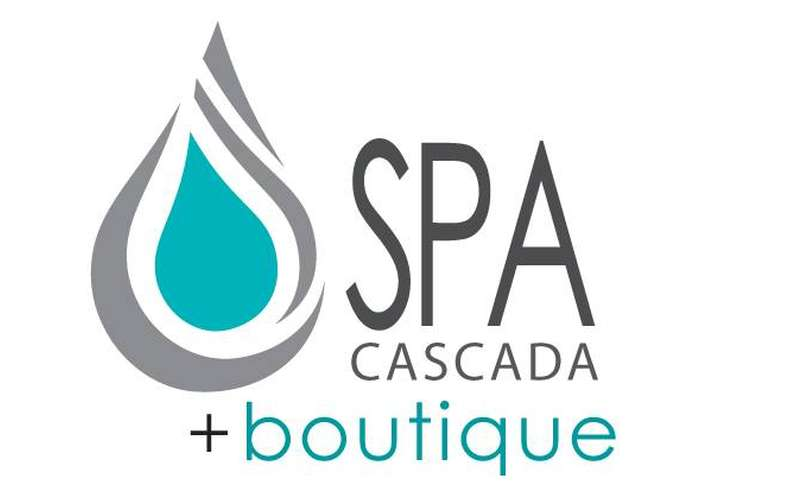 the logo for spa cascada and boutique