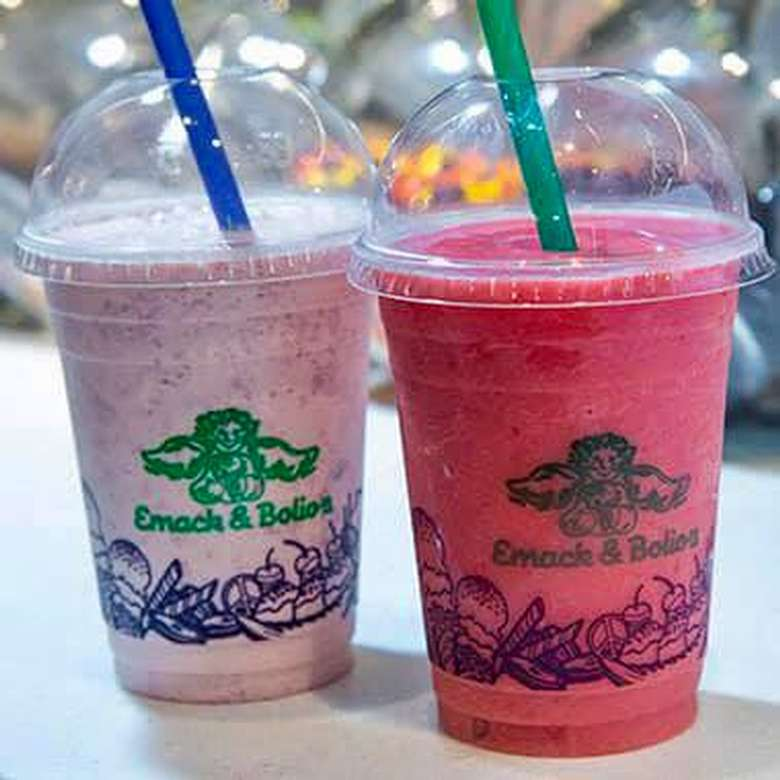 two fruit smoothies