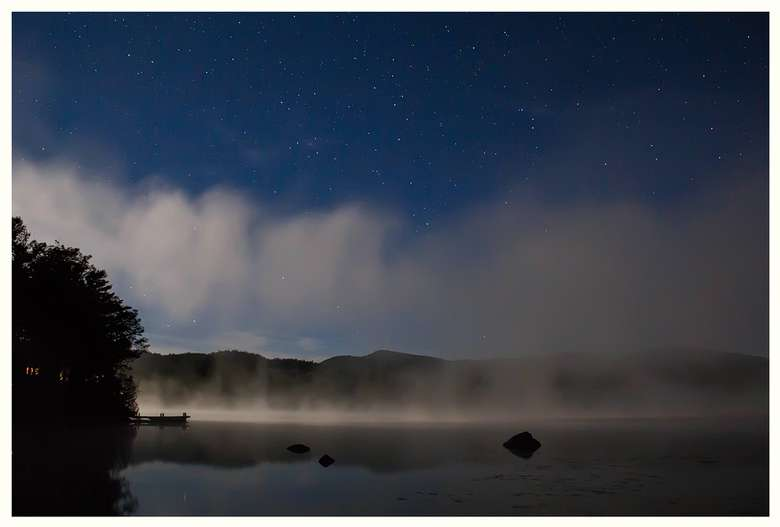Night at Long Pond Cabins