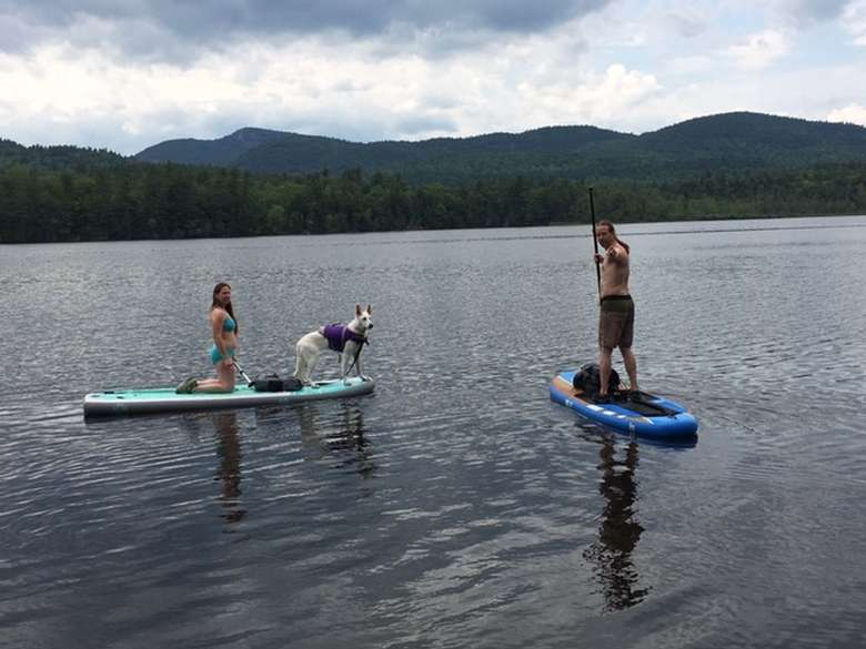 Paddle Boarding at Long Pond Cabins