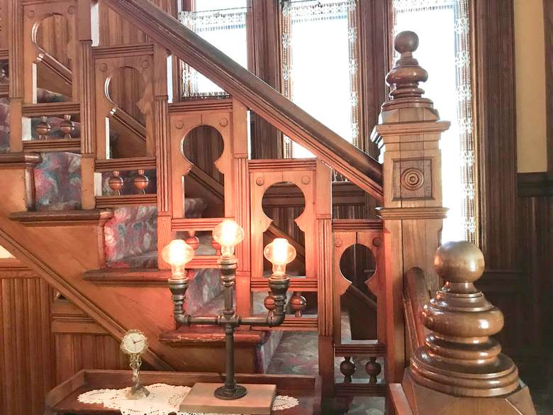 Keyhole Staircase in 1890 Building