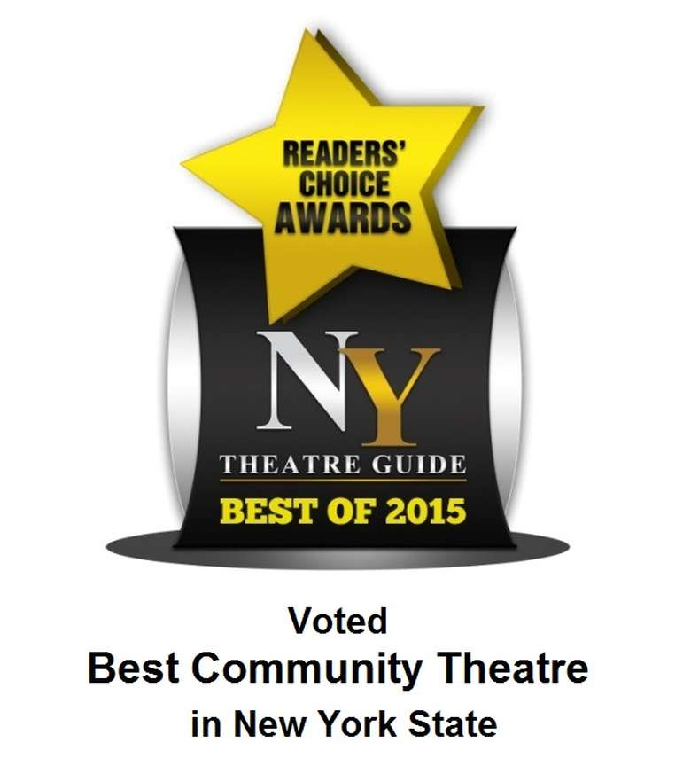 NY Theatre Guide Best of 2015 logo for the readers' choice awards best community theatre in new york state
