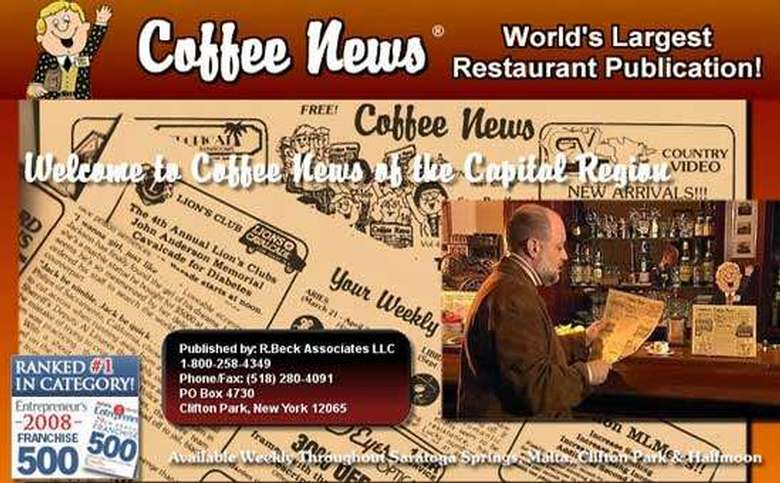 welcome to coffee news of the capital region, the worlds largest restaurant publication