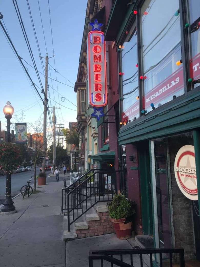 outside bombers restaurant on lark street