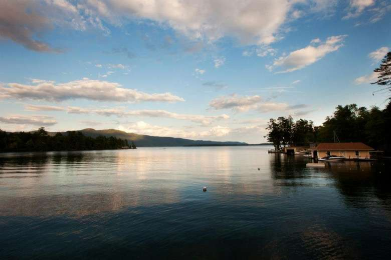 lake george at dusk