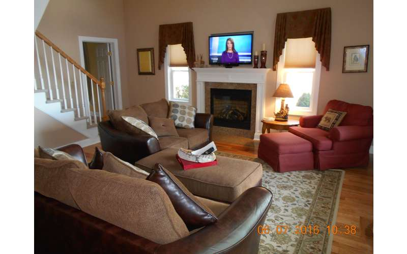 """Living Room with 55"""" HD TV"""