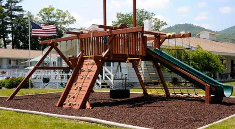 kids' outdoor playground area