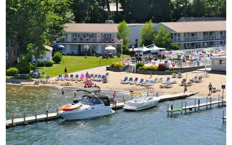 Marine Village Resort on Lake George in the village