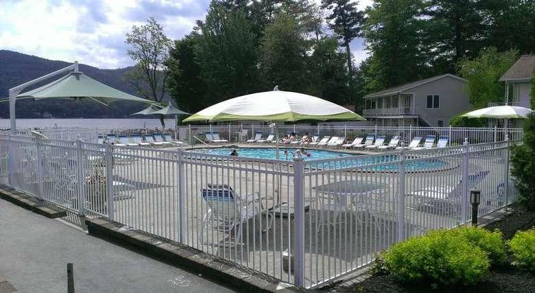 pool area at marine village resort