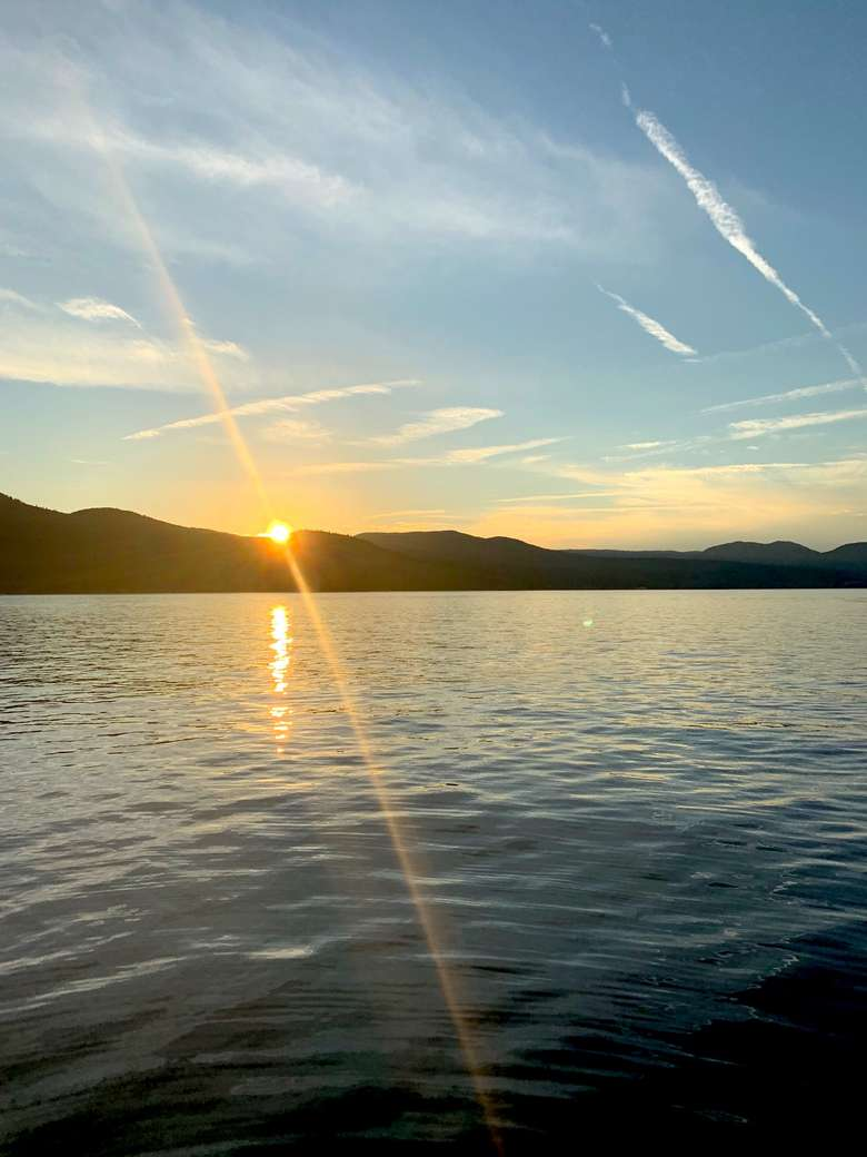 sunset at Marine Village Resort lakeside