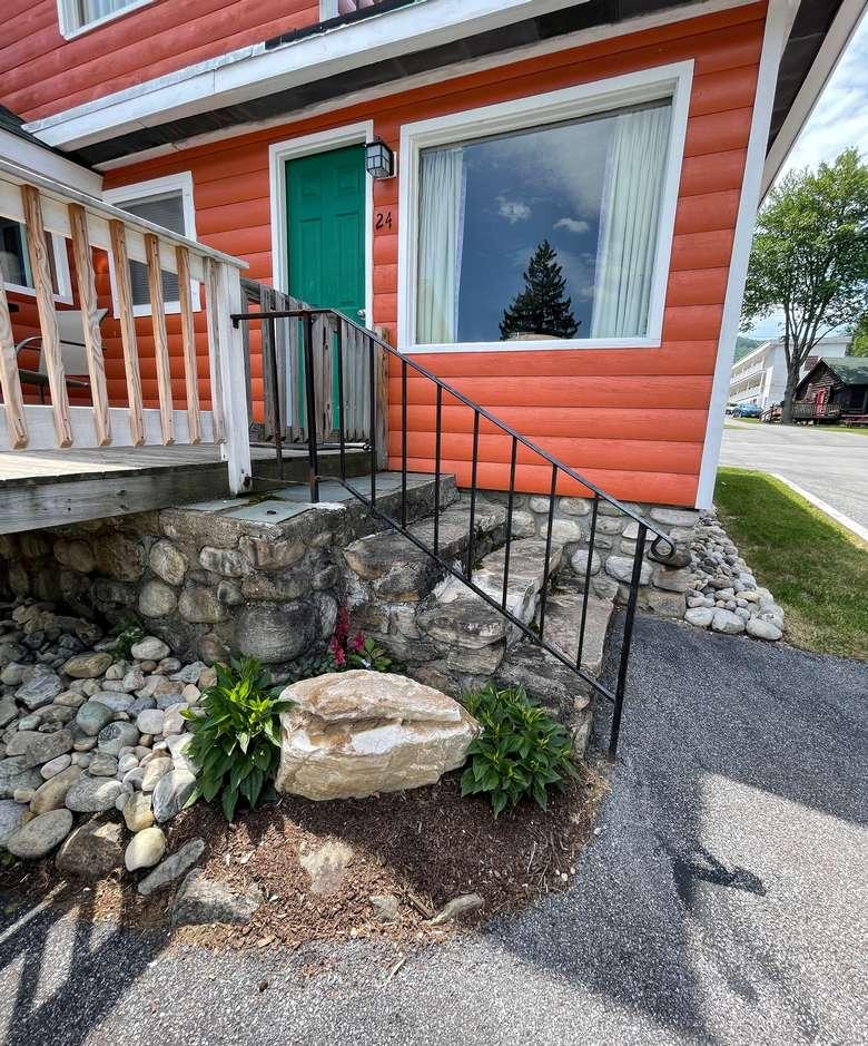 Enjoy Adirondack-style accommodations in one of the property's amazing cottages.