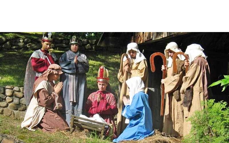 nativity scene at Santa's Workshop