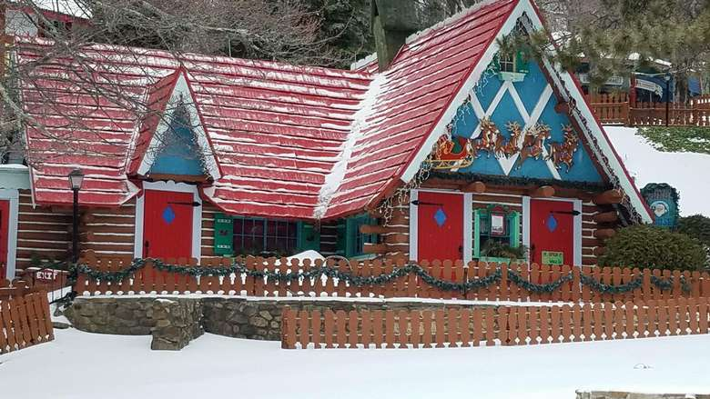 exterior of Santa's house