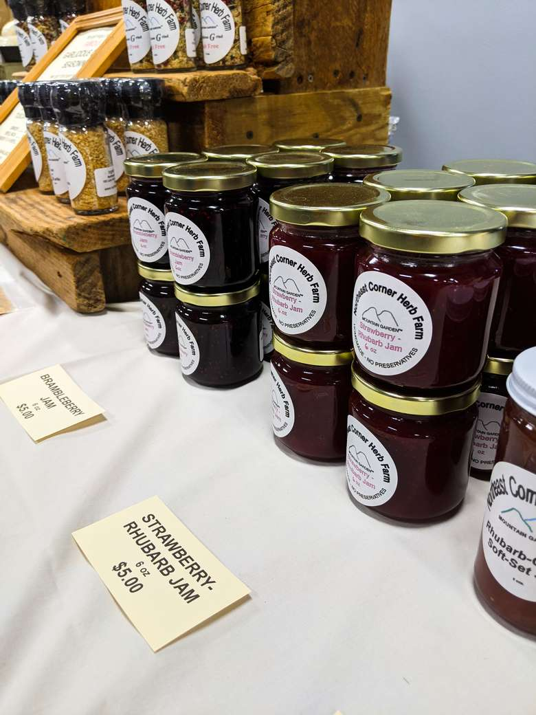 jams and spices for sale from Northwest Corner Herb Farm