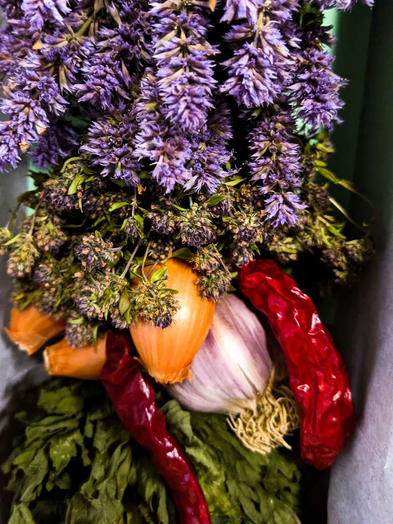 lavender, onions, and peppers from Northwest Corner Herb Farm