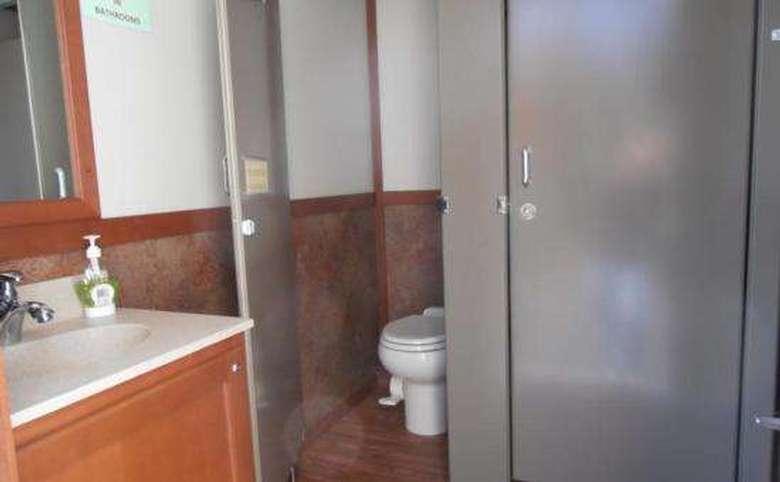 a multi-stall bathroom
