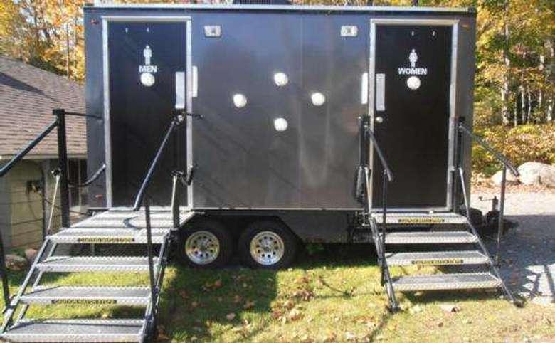a portable restroom trailer