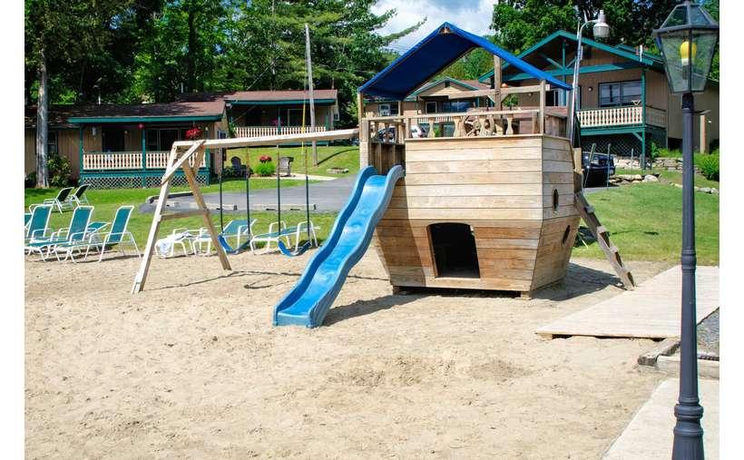 Castle playground for children
