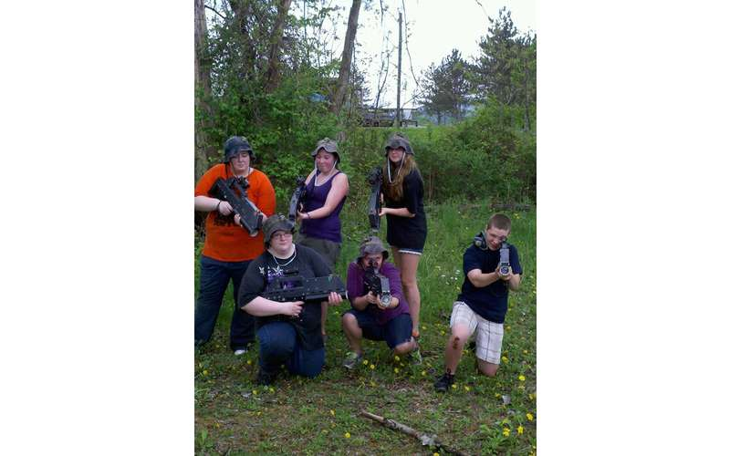 Want to play laser tag in your backyard? Just hire Albany Battlefield Live!